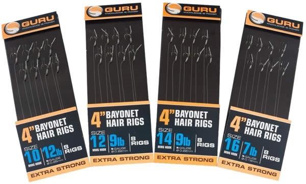 "Guru 4"" Bayonet Hair Rig Size 10"