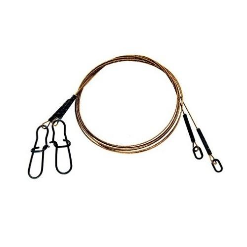 Flexonit 7x7 Vorfach Ring und Snap 50cm 6,8kg 0,27mm