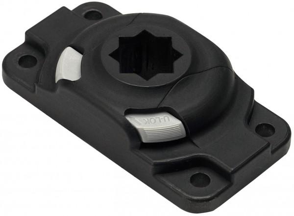Railblaza Starport HD mit rechtekigem Sockel schwarz