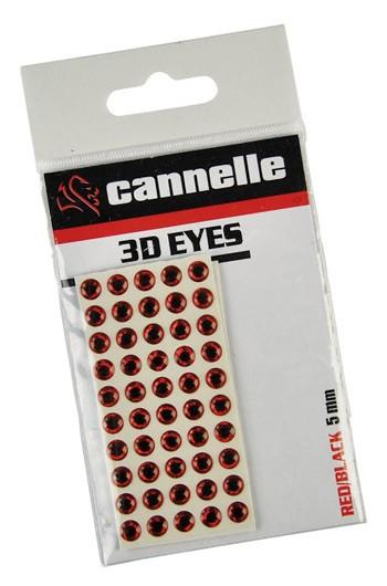 Cannelle 3D Eyes Argent/Noir 6mm x100