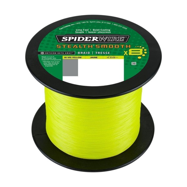 SpiderWire Stealth Smooth 8 Hi-Vis Yellow 100m