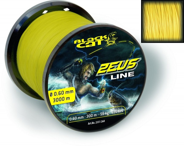 Black Cat Zeus Line 0,45mm 37kg 82lbs 3000m
