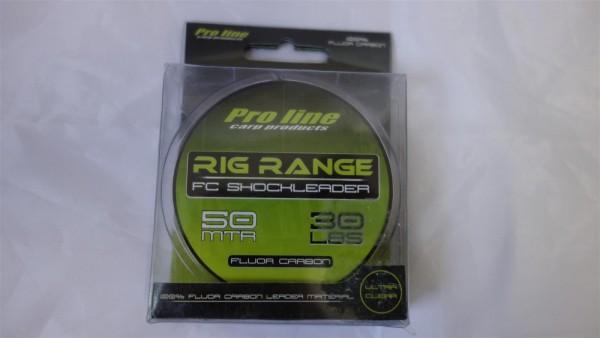 B-Ware Proline Rig Range Fluorcarbon Shockleader 30 lb 50 m