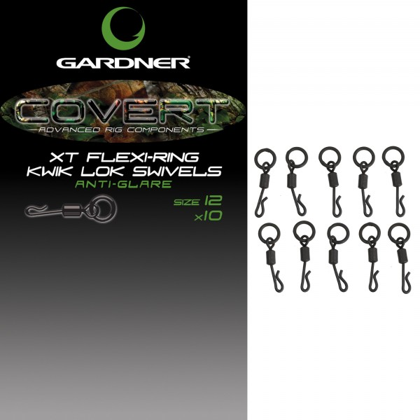 Gardner Covert 'XT' Kwick Lok Swivels Size 12 Anti Glare