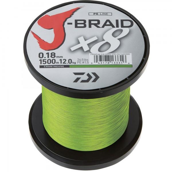 Daiwa J-Braid X8 Chartreuse 300m
