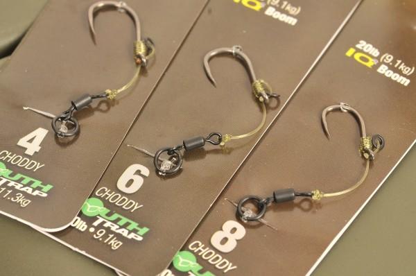 Korda Hinge Rig Barbless Size 6 Choddy MouthTrap 25lb-IQ2 20lb