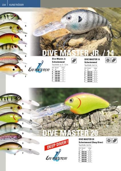 Livingston Wobbler Dive Master 20 Schwimmend B 14cm