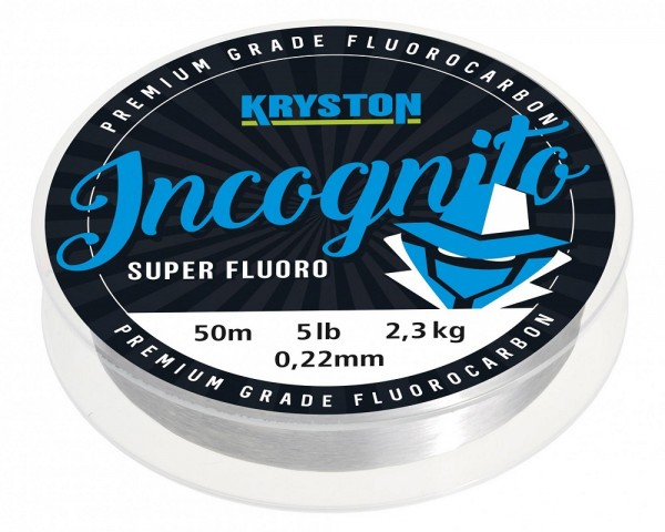 Kryston Incognito Flurocarbon Hooklink Clear 20m 0,40mm 18lb