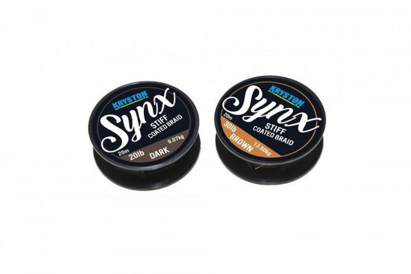 Kryston Synx Stiff Coated Braid Dark Silt 20m 20lb