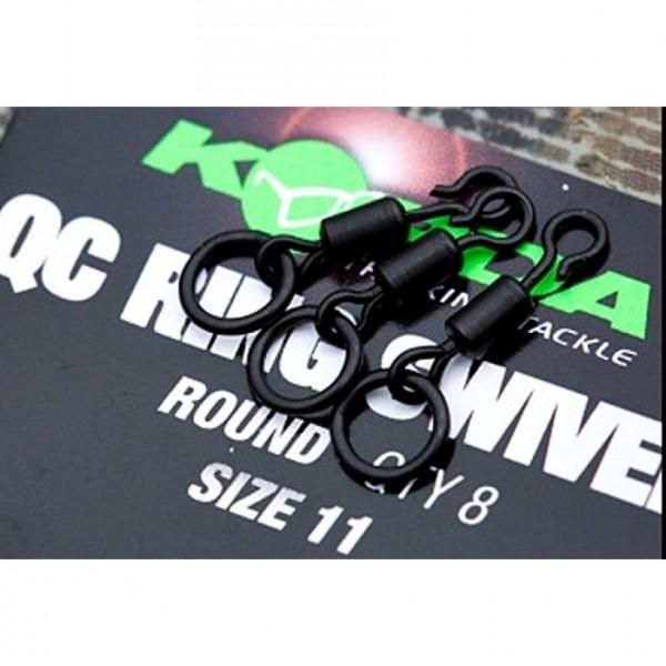 Korda Quick Change Ring Swivel Round Size 11