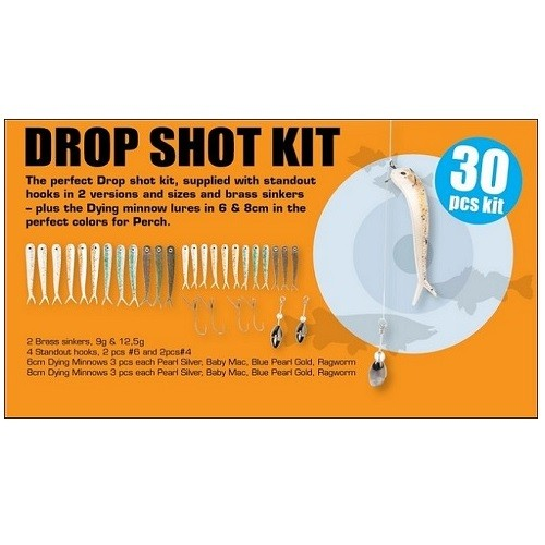 Savage Gear Dying Minnow Drop Shot Kit 30pcs
