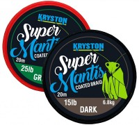 Kryston Super Mantis Coated Braid Dark Silt 20m 15lb