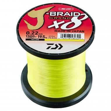 Daiwa J-Braid Grand X8 gelb 0,20mm 16,0kg 35,0lbs 100m