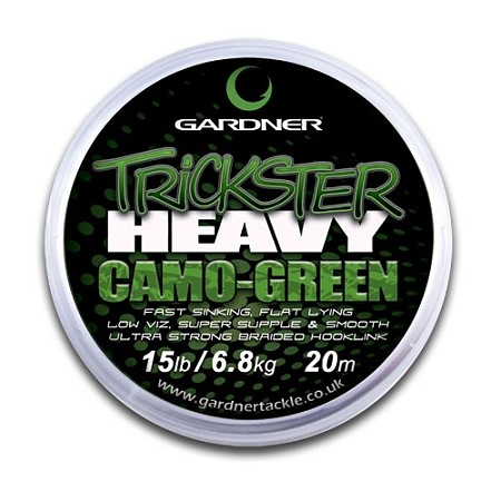 Gardner Trickster Heavy Camo-Green 20lb 20m