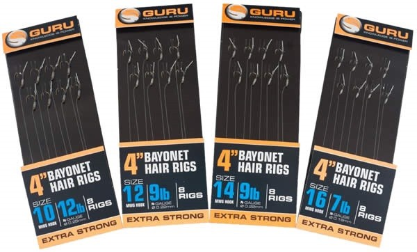 "Guru 4"" Bayonet Hair Rig Size 14"