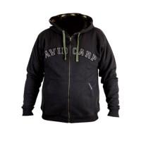 Avid Carp Zip-Thru Hoodie Black Gr. M