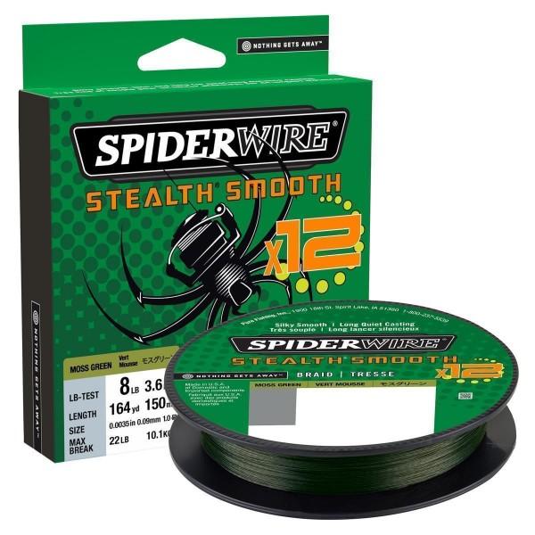 SpiderWire Stealth Smooth 12 Braid Moss Green 150m
