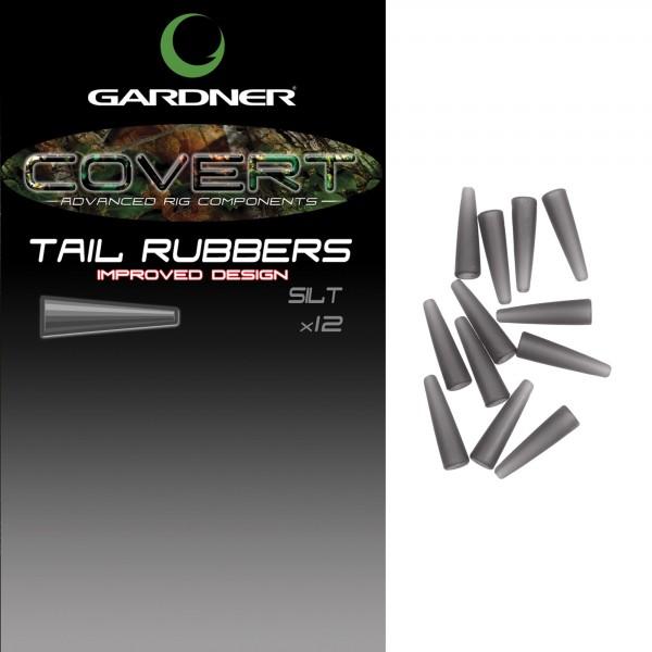 Gardner Covert Tail Rubbers C-Thru Black/Silt