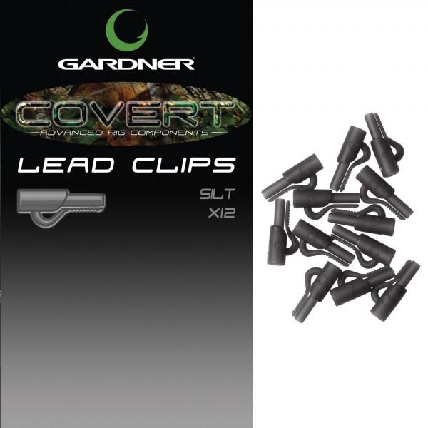 Gardner Covert Lead Clips C-Thru Black/Silt