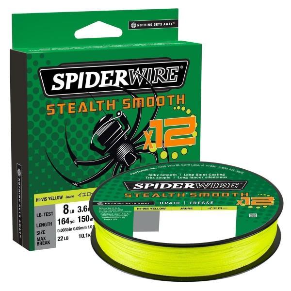 SpiderWire Stealth Smooth 12 Braid Hi-Vis Yellow 150m