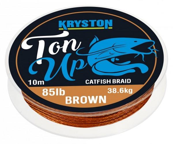 Kryston Ton Up Catfish Braid Gravel Brown 10m 85lb