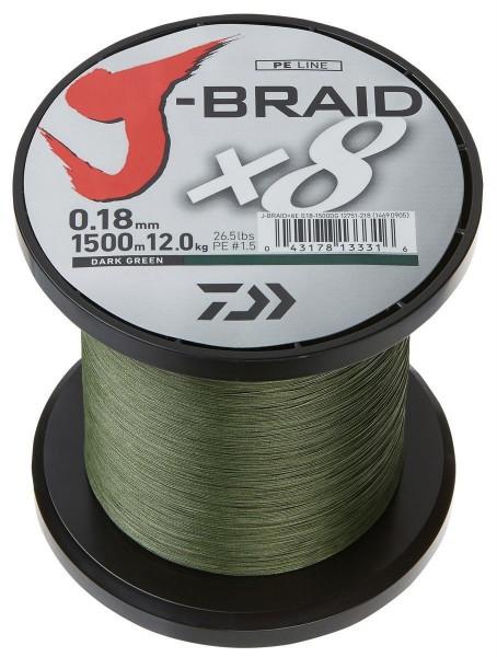 Daiwa J-Braid Dark Green 0,56mm 1500m 65kg