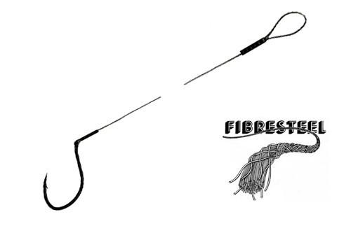 Profiblinker Fibresteel 15 kg 70 cm mit Haken Gr.3/0