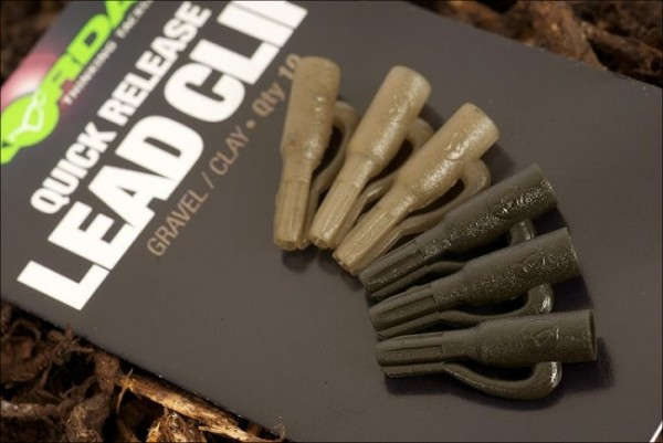 Korda Quick Release Lead Clips Weed / Silt - 10 Stück