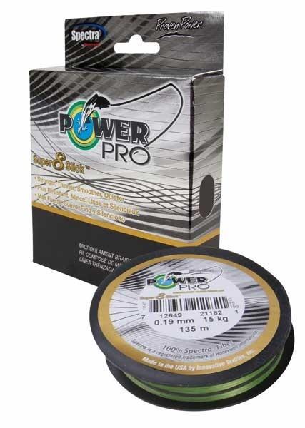 PowerPro Super 8 Slick 135m 0,23mm 17kg Aqua Green