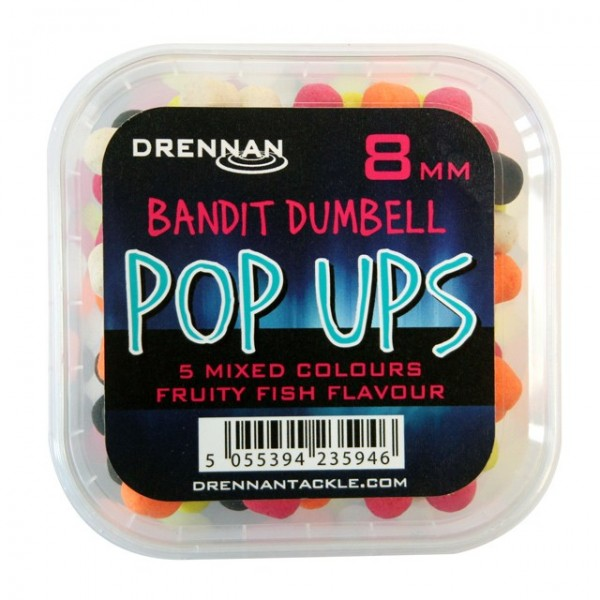 Drennan Pop Ups 8mm Bandit Dumbell Mixed Fruity Fish