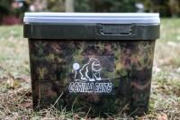 Gorilla Baits 10 Liter Camo Eimer mit grünen Deckel