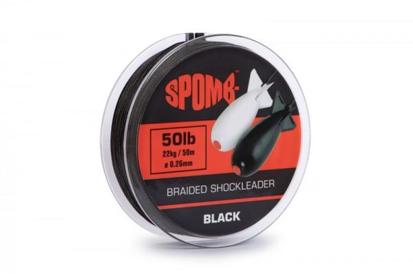 Spomb Braided Shockleader Black 0,26mm 50lb 22kg 50m