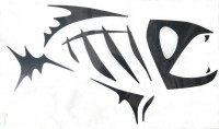 G.Loomis Green Lip Mussel Boat Decal Black