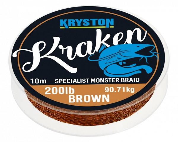 Kryston Kraken Monster Braid Gravel Brown 10m 200lb